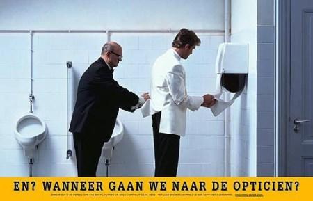 """Hoje, vou postar um foto de vi um site Holandês é um anúncio que alerta para os cuidados com os olhos. A legenda é, """"E? Quando é que vamos para o oftalmologista?"""" Eu achei beminteressante!"""